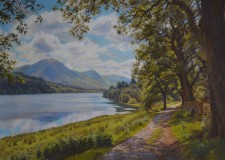 ''Towards Crummock Water'' pastel
